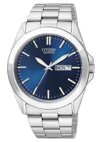 Citizen Quartz Day Date Blue Dial Men'S Watch - Bf0580-57L