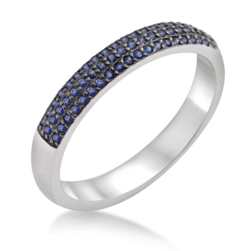 Eternity Ring, 9ct White Gold, Sapphire Eternity