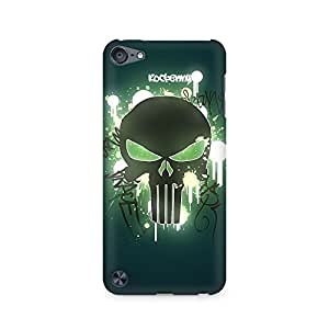 High Quality Printed Cover Case for Apple IPOD TOUCH 5 Model - Angry Skull