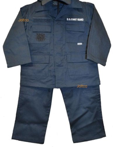 US Coast Guard 2 Pc Blue USCG Replica Work Uniform Pants & Shirt XXS 18 MOS