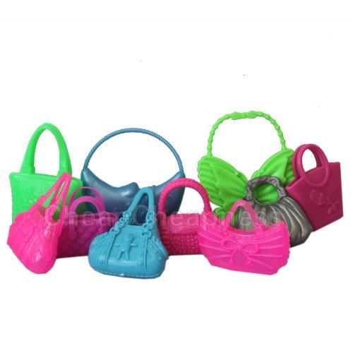 Hot Cute Mix 10Pcs Different Barbie Handbag Shoulderbag For Barbie Doll Accessory front-237463