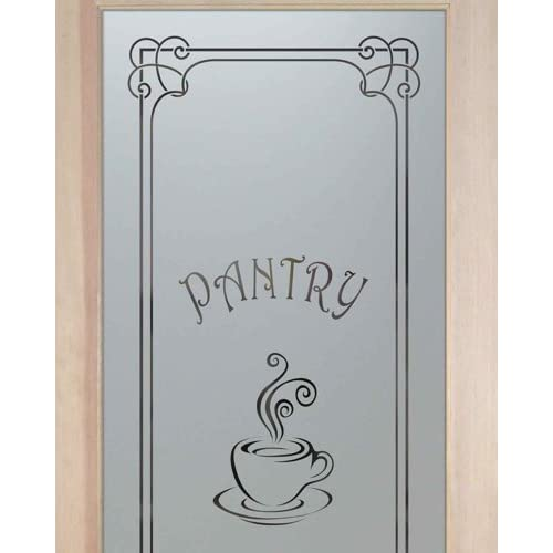 Pantry Doors 2 0 X 6 8 1 Lite French Etched Glass Door Frosted Espresso