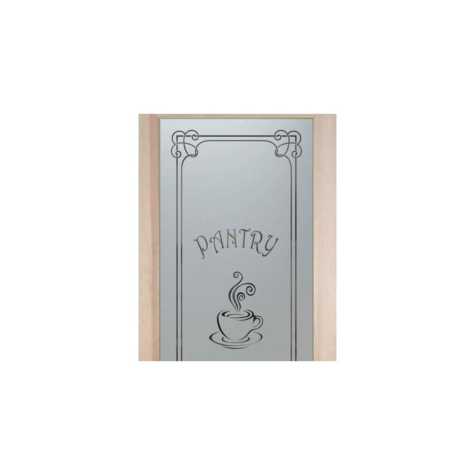 Glass pantry doors with frosted glass - Pantry Doors 2 0 X 6 8 1 Lite French Etched Glass Door Frosted