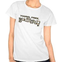 Buckwild: Young Free Buckwild Logo Tee - Girls