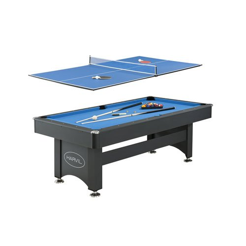 Harvil 7 foot pool table with table tennis top toys deals to home - Pool table table tennis ...