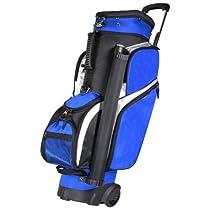 RJ Sports 9.5-Inch Wheeled Transport Bag, Royal