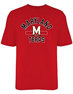 Buy Maryland Terrapins Old Varsity Brand Big Arch Red T-Shirt by Old Varsity Brand