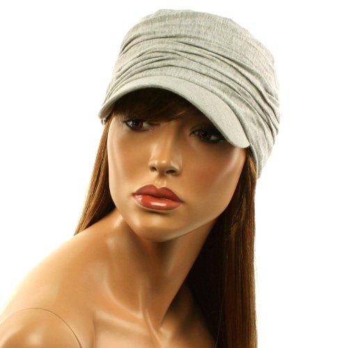 Unisex Summer Cotton Ruched Jersey Crinkle Bunch Cadet Castro GI Cap Hat