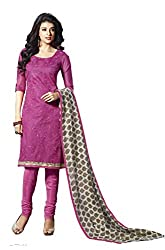Lt Nitya Women's Cotton Unstiched Dress Material (p005_Pink)