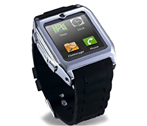 touch Screen Smartwatch Bluetooth Watch Mobile Phone MP3 Video Camera GSM FM bluetooth connect Android phones smart watch. (Black) by Smart watch