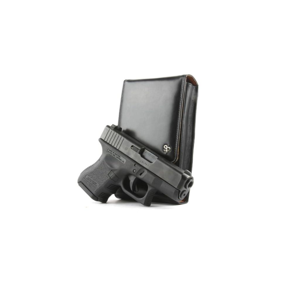 Glock 26 Sneaky Pete Holster (Belt Loop) Black Leather on