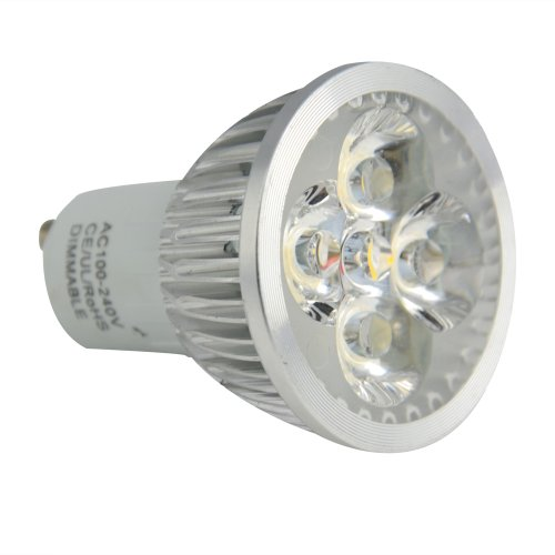 Jambo Gu10 Dimmable 6W Warm White 3200K Led Spotlight Lamp Led Bulb Lighting 100-240V 500Lm 40W Halogen Equivalent No Need Dimmer (Pack Of 4)