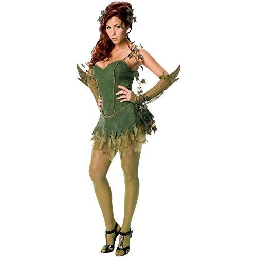 GSG Poison Ivy Costume for Womens Sexy Halloween Female Villain Dress (Female Villains Costumes)