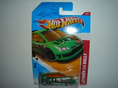 2012 Hot Wheels Thrill Racers - City Stunt '12 Citroen C4 Rally Green #198/247 - 1