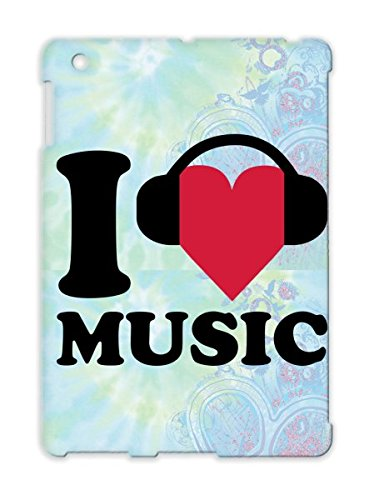 I Love Music Tpu Dirtproof For Ipad 4 Party Heart Mixing Music Electro Dj Club Dance Electronica Disco Headphones Red Protective Hard Case