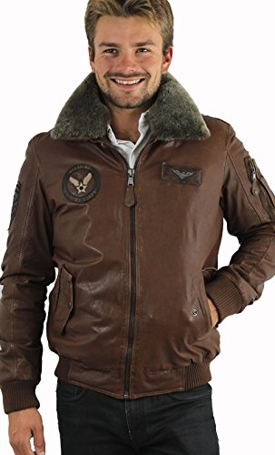 Giacca in pelle Redskins Doug Harlington cognac uomo Inverno 2015 marrone XXX-Large
