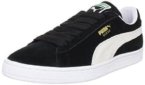 PUMA Suede Classic+ Sneaker,Black/White,12 M US Men's