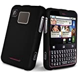 Black Rubberized Hard Case Phone Protector Cover for Motorola Charm MB502 T ....