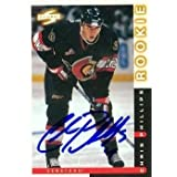 Chris Phillips Autographed/Hand Signed Hockey Card (Ottawa Senators) 1997 Score Rookie #71 discount price 2015