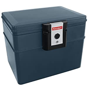 first alert fire chest 2037 fire and water resistant With documents 5 safe