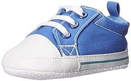 Luvable Friends Basic Canvas Sneaker (Infant), Blue, 0-6 Months M US Infant
