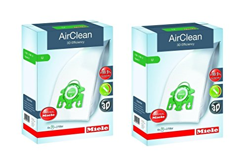 Miele Type U AirClean FilterBags, S7 Upright (8 bags) (Miele Airclean U Vacuum Bags compare prices)