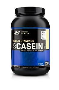 Optimum Nutrition 100% Casein Protein, Creamy Vanilla, 2 Pound