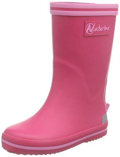 NaturinoNATURINO RAIN BOOT. - Stivali foderati a mezza gamba, contro il freddo Bambina , Rosa (Pink (GOMMA FUXIA-ROSA)), 26