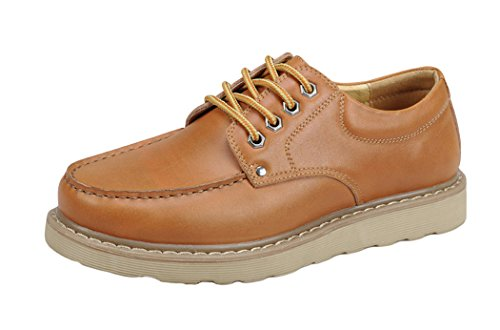 Serene Christmas Mens Lining Leather Casual Fashion Sneakers(9.5 D(M)US, Brown) (That 70s Show Outfits)