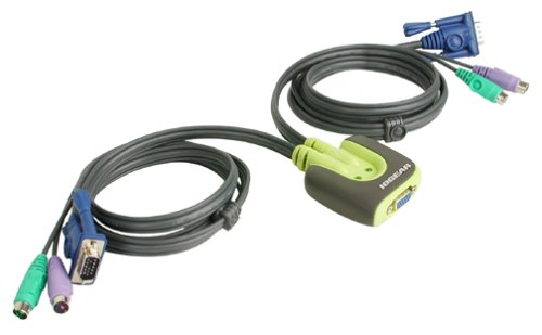 IOGear MiniView¿ Micro PS/2 KVM Switch with Cables (GCS62)