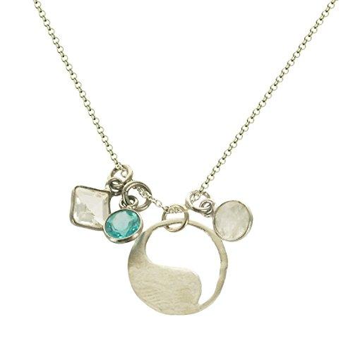 b.u. Harmony Gemstone Sterling Silver Charm Necklace 16-18