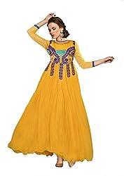 PARISHA Soft Net Yellow Women's Ball Gown SMRY06