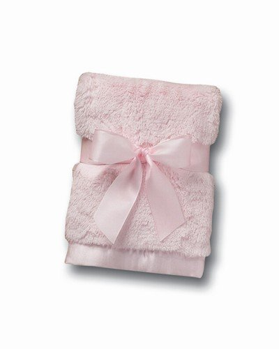 "Bearington Baby Bunny Series: Silky Soft Security Blanket (Pink) 16""sq."
