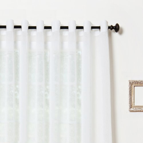 Wide Width Crushed Voile Sheer Grommet Top Curtain 100 W X 84 L Panel Sl Ebay
