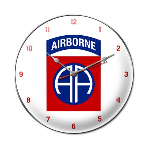 US Army 82nd Airborne Allied Military Clock - Garage Art Signs