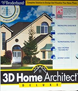 3D Home Architect Deluxe Broderbund Staff Software