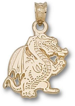 Alabama (Birmingham) Blazers Full Dragon Body Pendant - 14KT Gold Jewelry by Logo Art