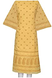 ADA Handloom Embroidery Traditional Cotton Kurta Unstitched Material A104055