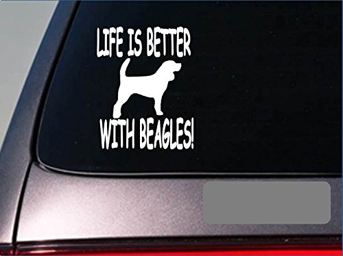 "Life is better with beagle *F401* 6"" sticker decal rabbit hunting dog box"