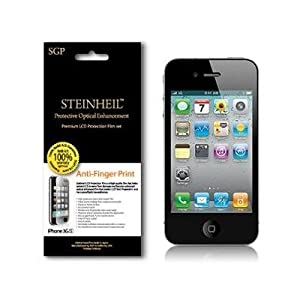 Anti-Fingerprint Screen Protector for iPhone 4, 2 Set