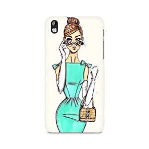 MOBICTURE Girl Abstract Premium Designer Mobile Back Case Cover For HTC Desire 816