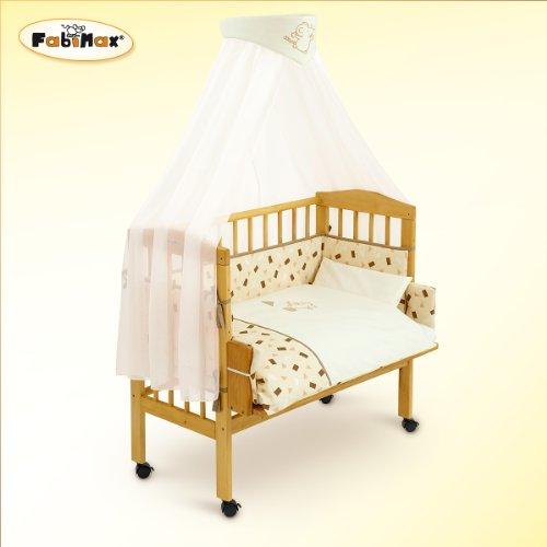 Fabimax - Lettino da affiancare al lettone per neonati BabyMax classico con accessori Lilly, 3 colori assortiti