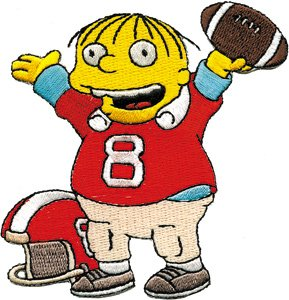 Amazon.com: Simpsons Ralphie Football Patch P-SIM-0064: Clothing