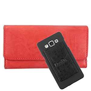 DooDa PU Leather Wallet Flip Case Cover With Card & ID Slots For Nokia Lumia 525 - Back Cover Not Included Peel And Paste