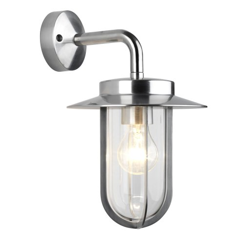 Astro 0484 E27 Montparnasse Wall Light excluding 1 x 60 Watt 230 V Bulb, Polished Nickel