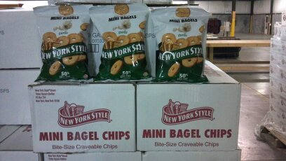 New York Style Bagel Chip Mini Garlic 5 oz (Pack Of 12)