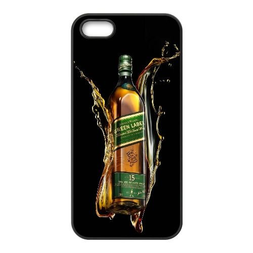 Johnnie Walker Green Label Whiskey Bottle Brand 16525 iPhone 5 5S Cell Phone Case Black Cell Phone Case Cover EEECBCAAK71882