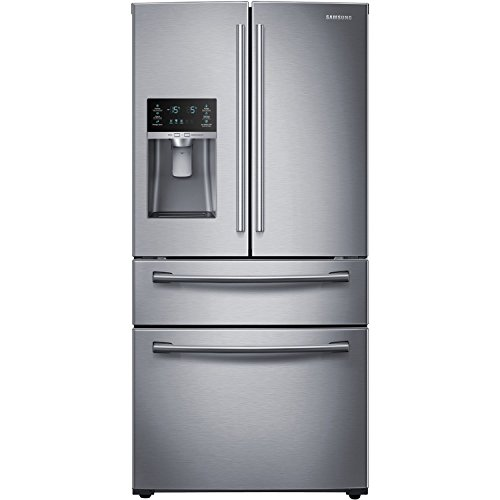 Samsung Rf28Hmedbsr Energy Star 28.2 Cu. Ft. French Door Refrigerator With Counter-Height Flexzone Drawer And Freezer Drawer, Stainless Steel