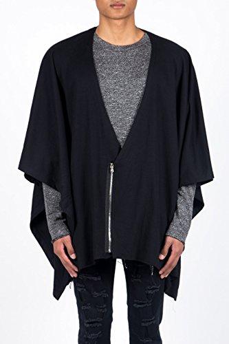 Poncho con zip 432CV Sixth June, colore: nero