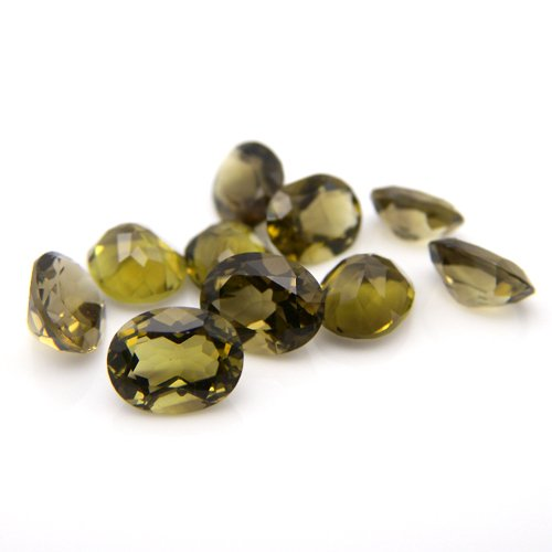 Natural Smoky Quartz Loose Gemstone Oval Cut 9*7mm 16.55cts 10pcs Wholesale Lot